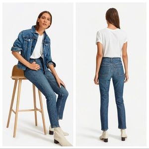 EVERLANE High Waist Cropped Ankle Straight Jean 26